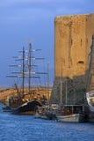 Kyrenia hamn - turkiska Cypern Fotografering för Bildbyråer