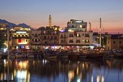 Kyrenia hamn - turkiska Cypern Arkivbild