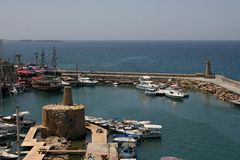 Kyrenia harbor. & marina, Northern Cyprus royalty free stock photography