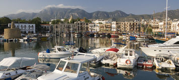Kyrenia Harbor - Turkish Cyprus. Kyrenia Harbor in the early morning. The Turkish Republic of Northern Cyprus Royalty Free Stock Photo