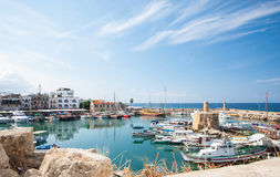 Kyrenia harbour. Cyprus; beautiful sea bay stock photos