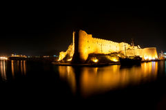 Kyrenia medieval castle at night Stock Image