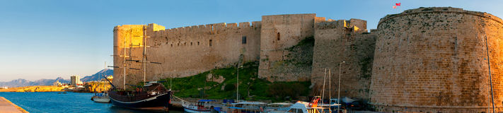 Kyrenia. Medieval Castle and old harbour. Cyprus. Royalty Free Stock Images