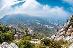 The Kyrenia Mountain Range. Kyrenia Girne District, Cyprus Royalty Free Stock Image