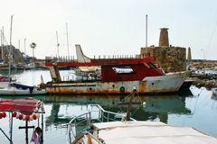Kyrenia old port Stock Photos