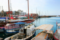 Kyrenia old port royalty free stock image