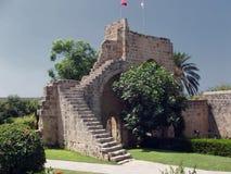 Kyrenia, Zypern-- Bellapais Abtei-Bögen Lizenzfreie Stockfotos