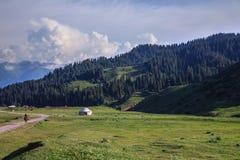 Kyrghyz-yurt Stockbild