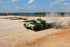 Kyrgysian T-72B1 zbiornik Zdjęcia Royalty Free
