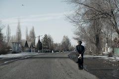 Kyrgyz grootvader stock afbeeldingen