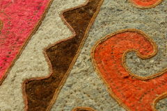 Kyrgyz krajowy dywanowy shyrdak Obraz Royalty Free