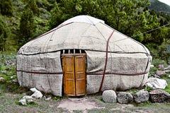 Kyrgyz krajowy mieszkanie - yurta obraz stock