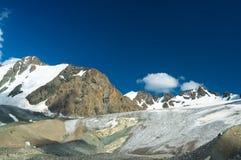 Kyrgyz Mountains, The big Ala-Archa Glacier Stock Photography