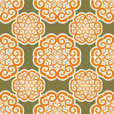 Kyrgyz pattern. Traditional national pattern of Kyrgyzstan. Text Stock Image