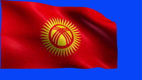 Kyrgyz Republic, Flag of Kyrgyzstan - LOOP Stock Photography