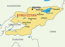 Kyrgyz Republic - Kyrgyzstan - vector map Stock Image