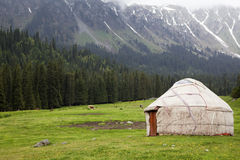 Kyrgyz yurt Stockfotos