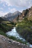 kyrgyzstan berg Arkivfoton