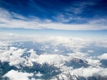 kyrgyzstan Berg Tianshan Die Ansicht von den Flugzeugen Stockbild
