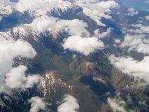kyrgyzstan Berg Tianshan Die Ansicht von den Flugzeugen Stockfotografie
