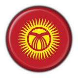 Kyrgyzstan button flag round shape Royalty Free Stock Photo