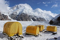 Kyrgyzstan - Khan Tengri base camp Royalty Free Stock Images