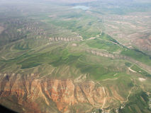 kyrgyzstan Montagem Tianshan A vista dos aviões Imagem de Stock