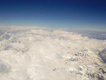 kyrgyzstan Montering Tianshan Sikten från flygplanet Arkivbilder