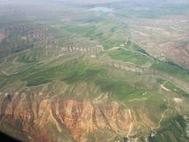 kyrgyzstan Montering Tianshan Sikten från flygplanet Fotografering för Bildbyråer