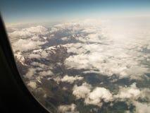 kyrgyzstan Montering Tianshan Sikten från flygplanet Royaltyfria Bilder