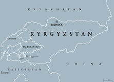 Kyrgyzstan Political Map stock vector Illustration of uzbekistan