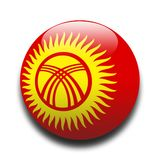 Kyrgyzstanian flag Royalty Free Stock Images