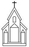 kyrka Arkivfoton