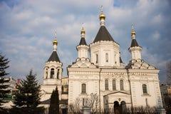 Kyrka av ärkeängeln Michael av Moskvauniversitetet Arkivbild