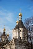 Kyrka av ärkeängeln Michael av Moskvauniversitetet Fotografering för Bildbyråer