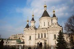 Kyrka av ärkeängeln Michael i Moskva Arkivbilder