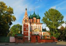 Forntida rysk stad av Yaroslavl Arkivfoton