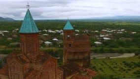 Kyrka av ärkeänglar i Kakheti, arkitektonisk gränsmärke, historiskt arv arkivfilmer