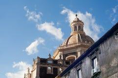 Kyrka av abbotskloster av Sant ` Agata Royaltyfria Bilder