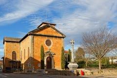 Kyrka av Albigny sur Saone Arkivbild