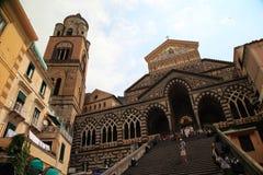 Kyrka av Amalfi Royaltyfria Foton