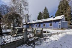 Kyrka av antagandet av jungfruliga Mary i den historiska staden av Koprivshtitsa, Sofia Region Arkivbilder