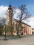 Kyrka av antagandet i Banska Bystrica Royaltyfri Fotografi