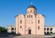 Kyrka av antagandet Pirogoscha, Kiev Arkivbild