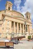 Kyrka av antagandet av vår dam på Mosta, Malta Fotografering för Bildbyråer