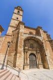 Kyrka av Ariza, Zaragoza, Spanien Arkivfoton