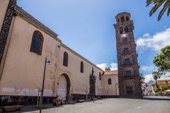 Kyrka av befruktningen, San Cristobal de La Laguna, Santa Cruz de Tenerife, Spanien - 13 05 2018 arkivbilder