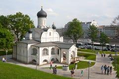 Kyrka av befruktningen av St Anne i Moskva 17 05 2018 Fotografering för Bildbyråer