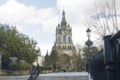 Kyrka av Begona BasÃlica av Begoña i Bilbao royaltyfria foton