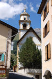 Kyrka av Bel Taimpel - Celerina Schweiz Royaltyfria Bilder